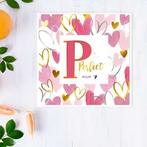 Perfect Mum Mother's Day Design Alongside Its White Envelope