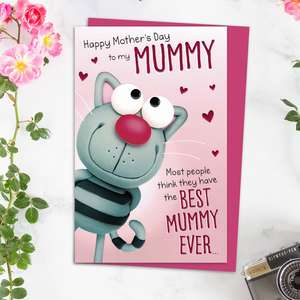 Best Mummy Ever Mother's Day Card Alongside Its Magenta Envelope