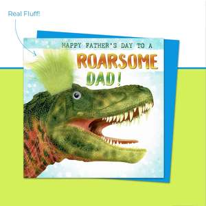 Happy Father's Day To Roarsome Dad Fluff Front Image