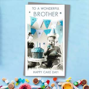 Wonderful Brother Happy Cake Day! Front Image
