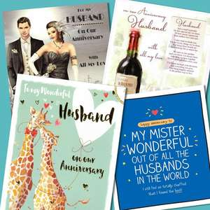 A Selection Of Cards To Show The Depth Of Range In Our Husband Anniversary Section