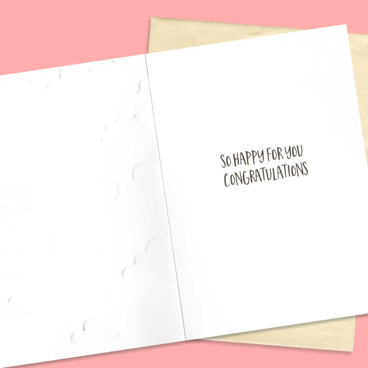 Inside Of Baby Girl Card Showing Printed Text