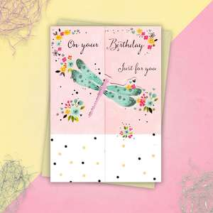 Dragonfly Birthday Card Full Image