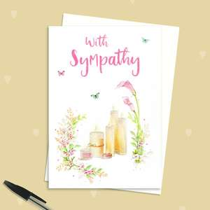 Sympathy Card Alongside Its White Envelope