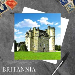 Castle Fraser Blank Greeting Card With Its White Envelope