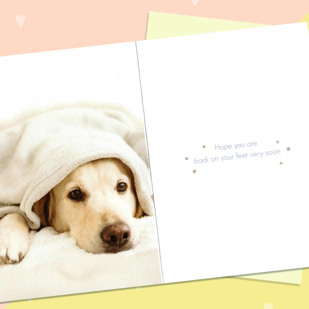 Get Well Soon Card Alongside Its Envelope