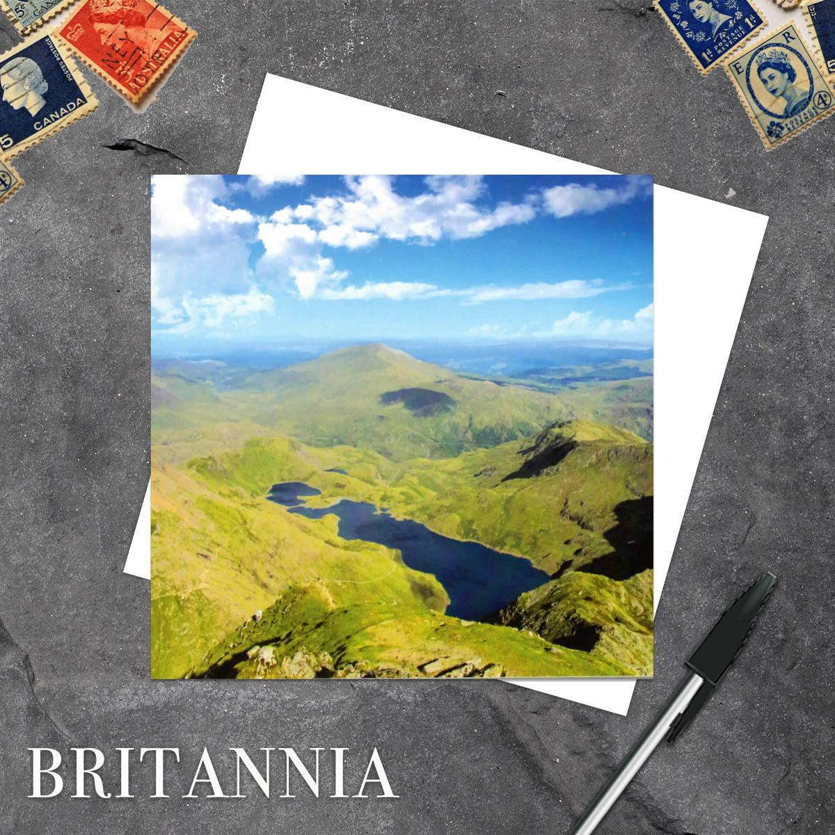 Mount Snowdon Wales Blank Greeting Card