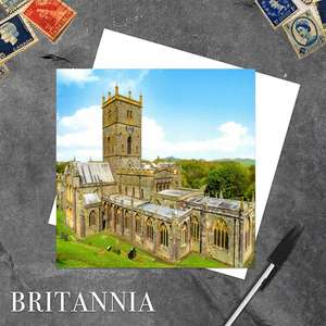 St Davids Cathedral, Wales Blank Greeting Card