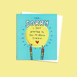 Sorry Greeting Card Displayed Alongside Its Envelope