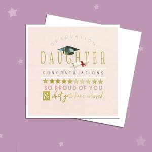 Daughter Graduation Card Alongside Its White Envelope