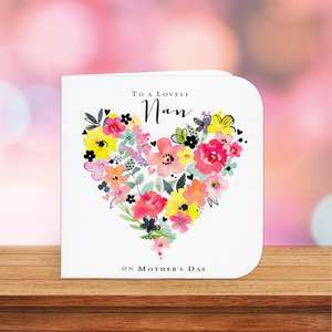 Lovely Nan Mothers Day Card Sitting On A Display Shelf