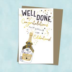 Congratulations Well Done Card Alongside Its Envelope