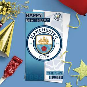 Manchester City Football Card Alongside Its White Envelope