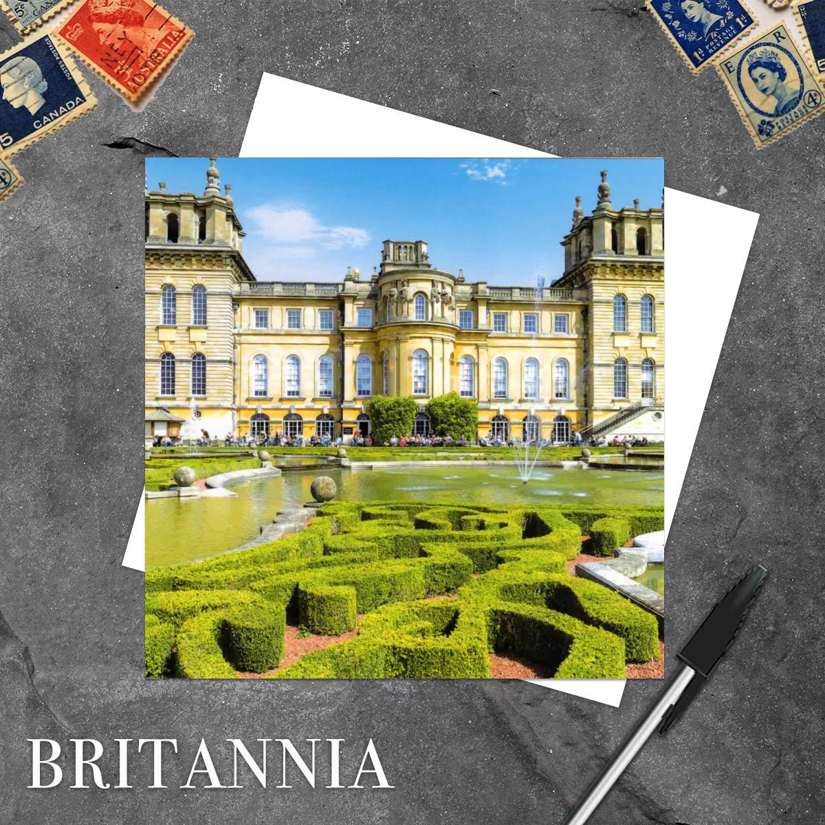 Blenheim Palace, Oxfordshire Blank Greeting Card And Envelope