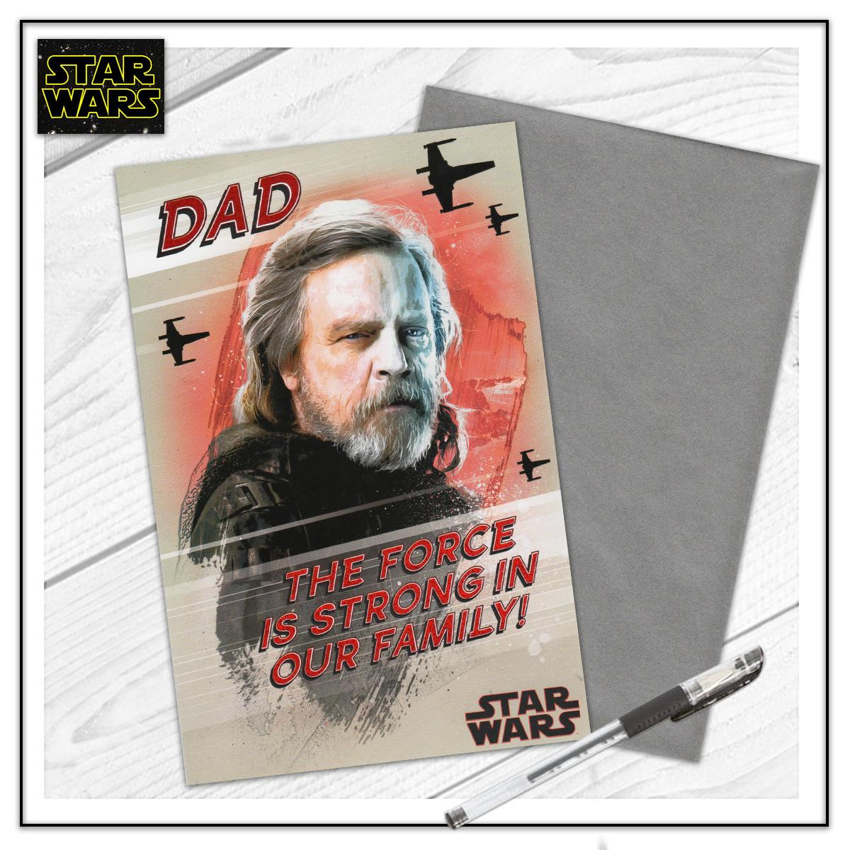 Dad Star Wars Card Sitting On The Shelf