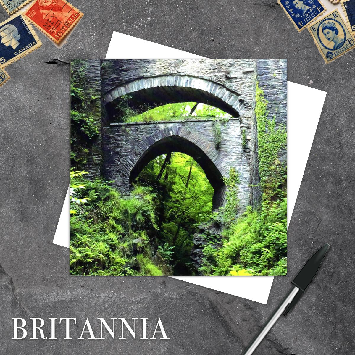 Devils Bridge Blank Greeting Card