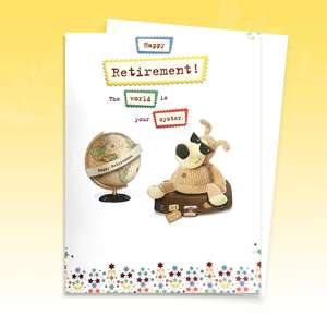 Boofle Large Retirement Card Image
