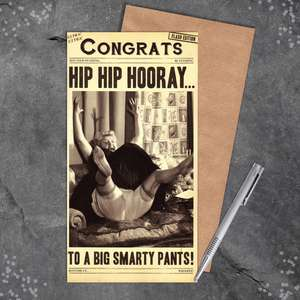Congratulations Hip Hip Hooray Greeting Card