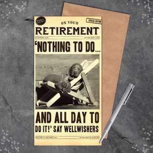 Fleet Street Funny Retirement Card