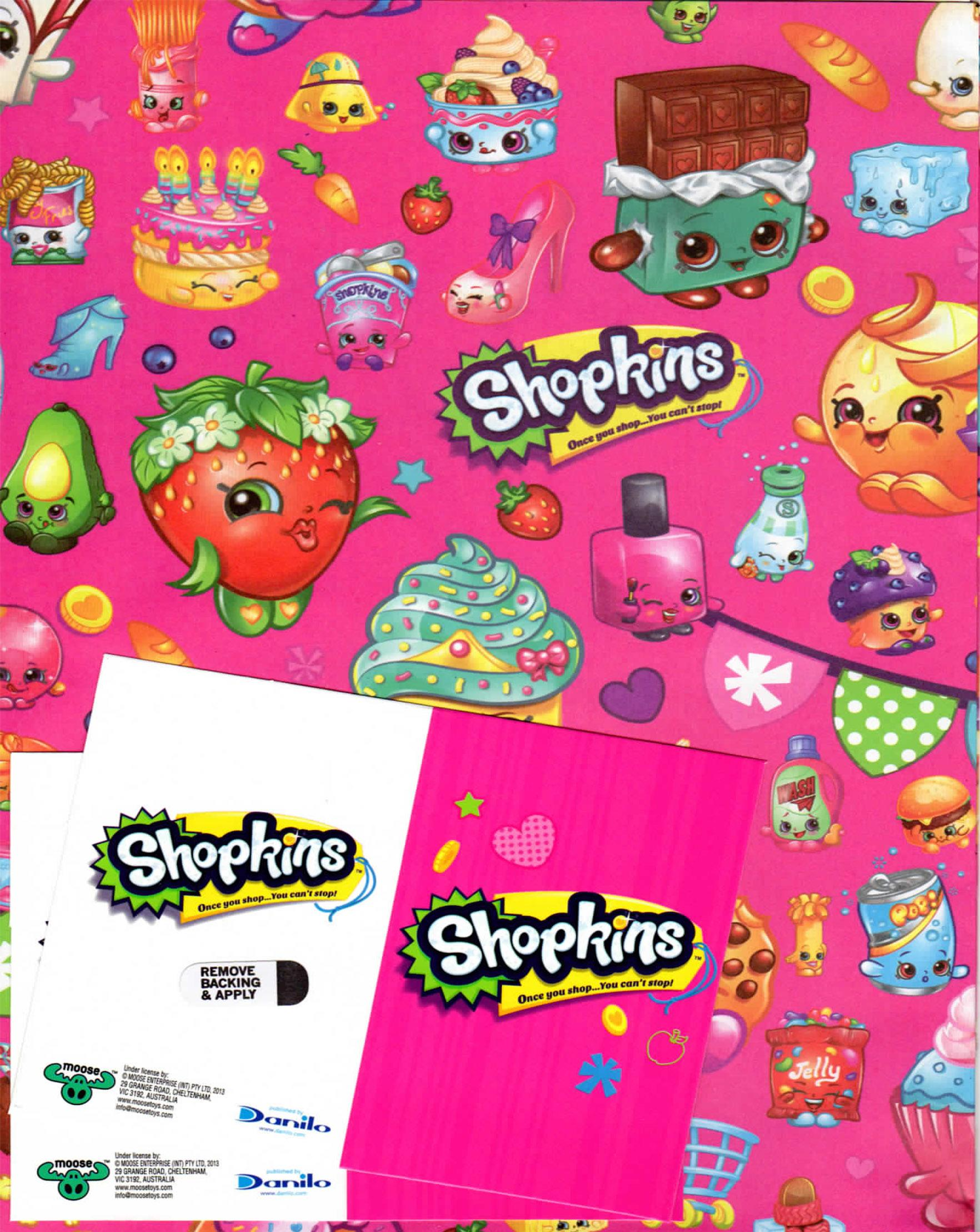 Shopkins Themed Wrapping Paper And Gift Tags