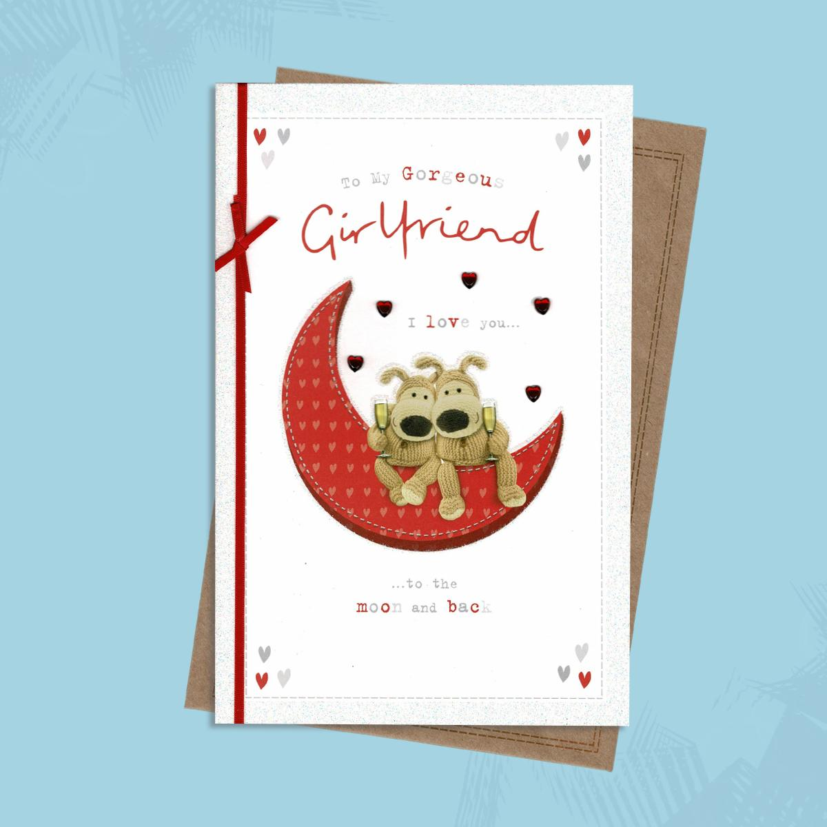 Outstanding Boofle Bear Girlfriend Birthday Card Personalised Birthday Cards Paralily Jamesorg