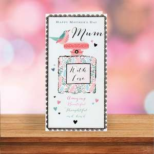 Mum Perfume Mothers Day Card Sitting On A Display Shelf