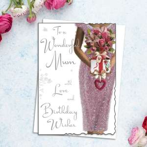 Mum Birthday Card Alongside Its White Envelope