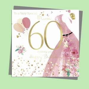 Mum Age 80 Birthday Card Alongside Its Silver Envelope