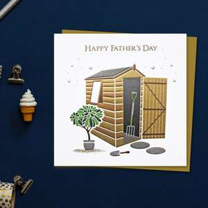 Happy Father's Day Golden Shed Front Image