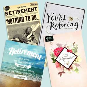 A Selection Of Cards To Show The Depth Of Range In Our Retirement Section