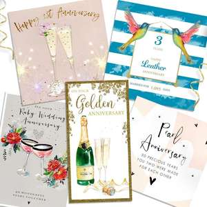 A Selection Of Cards To Show The Depth Of Range In Our Special Anniversary Section