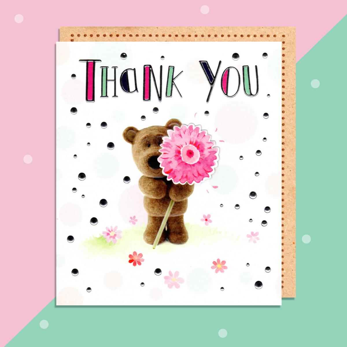 Barley Bear Thank You Card Sitting On The Shelf