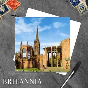 Coventry Cathedral Blank Greeting Card With White Envelope