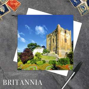 Guildford Castle, Surrey Blank Greeting Card And White Envelope
