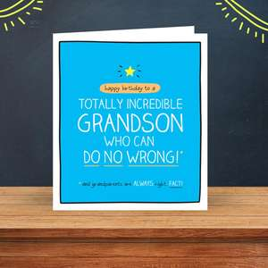 Totally Incredible Grandson Birthday Design Sitting On A Display Shelf