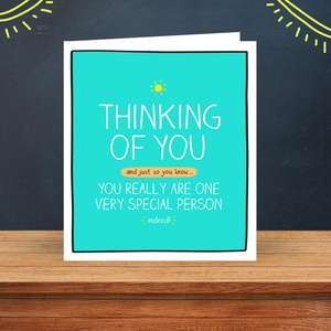 Thinking Of You Funny Greeting Card Sitting On The Display Shelf