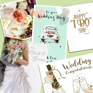 A Selection Of Cards To Show The Depth Of Range In Our Wedding Day Cards Section