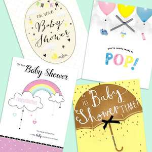 A Selection Of Our Most Popular Baby Shower Cards
