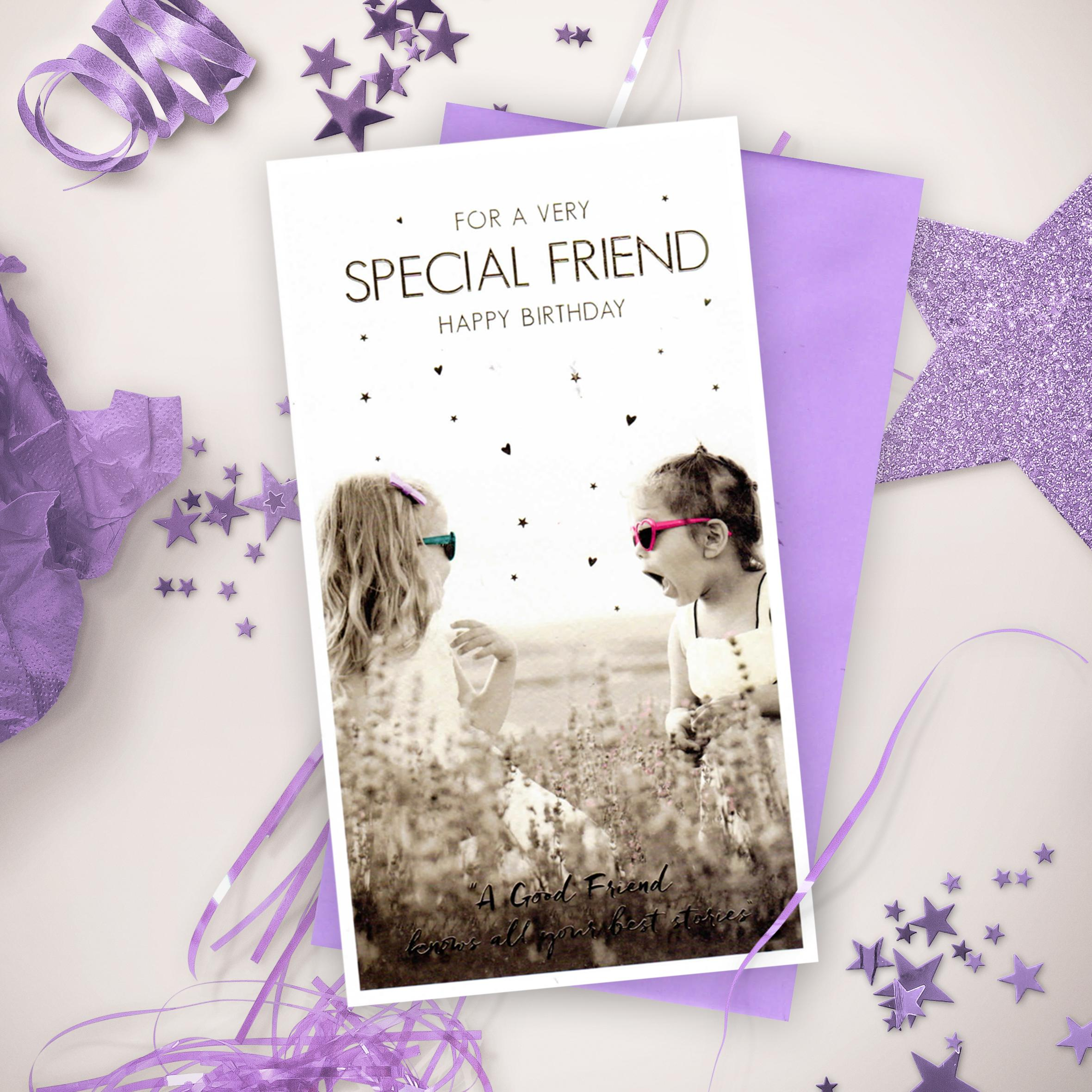 Friend Card Complete With Lilac Envelope