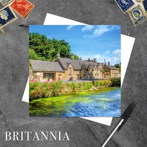 Bibury, Gloucestershire Blank Greeting Card