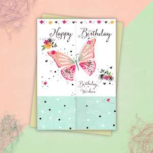 Birthday Butterfly Trio Card