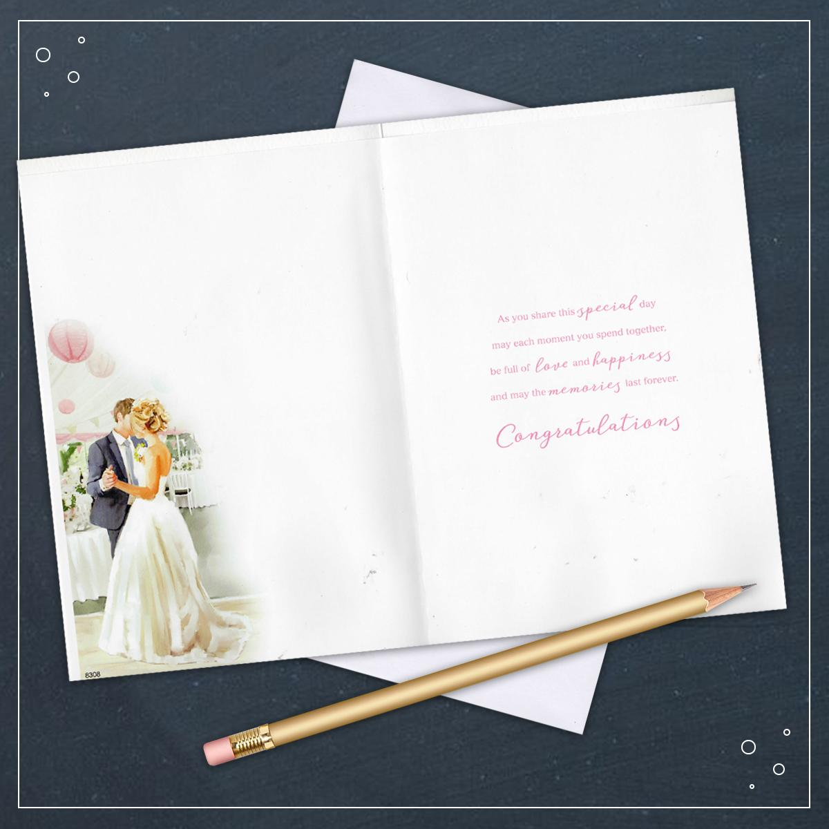 Inside Of Wedding Card Showing Layout And Printed Text