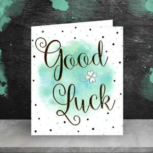 Good Luck Card Sitting On The Shelf