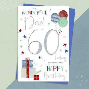Dad Age 60 Birthday Card With Its Envelope