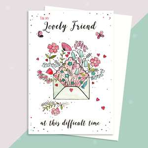 Friend Support Card Sitting On A Display Shelf