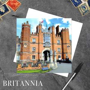 Hampton Court Palace Blank Greeting Card And white Envelope