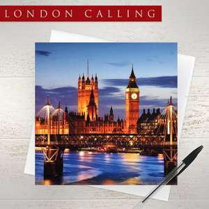 London Skyline Blank Card Alongside Its White Envelope
