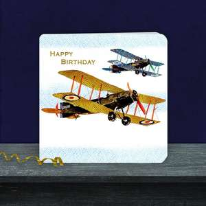 Two Planes Happy Birthday Card Male Greeting Card