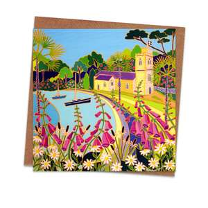 St Just In Roseland Art Themed Blank Card Alongside Its Envelope
