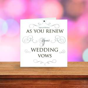 A Selection Of Cards To Show The Depth Of Range In Our Renewal Of Vows Cards Section